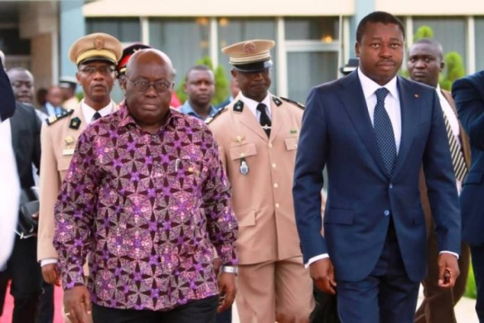 Presidents Akufo-Addo of Ghana and Faure Gnassingbé of Togo have tried to use diplomacy to settle the dispute