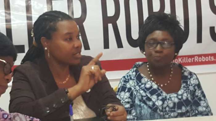 Dr Ayoola Amaale addressing the media