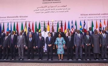 The participating Ministers at the conference
