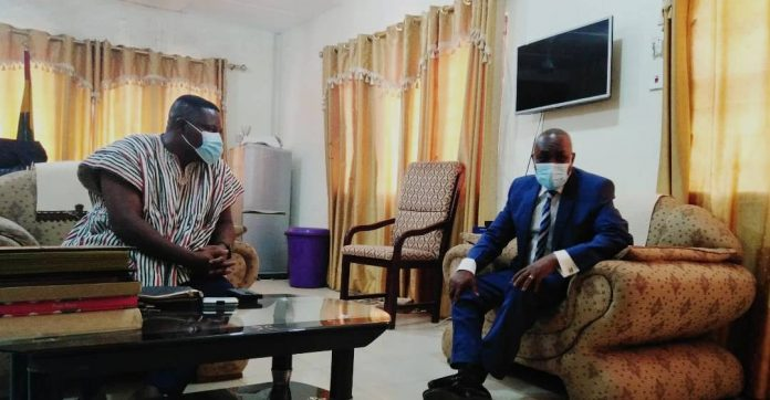 Mr Gamey (right) interacting with Mr Teye Doku (left)