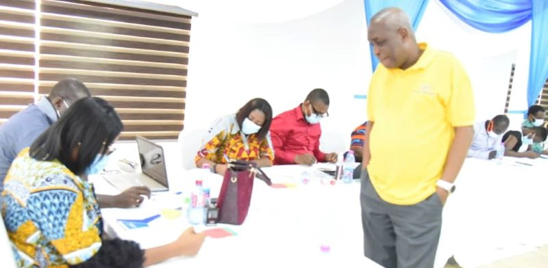 The participants engaged in simulation exercises